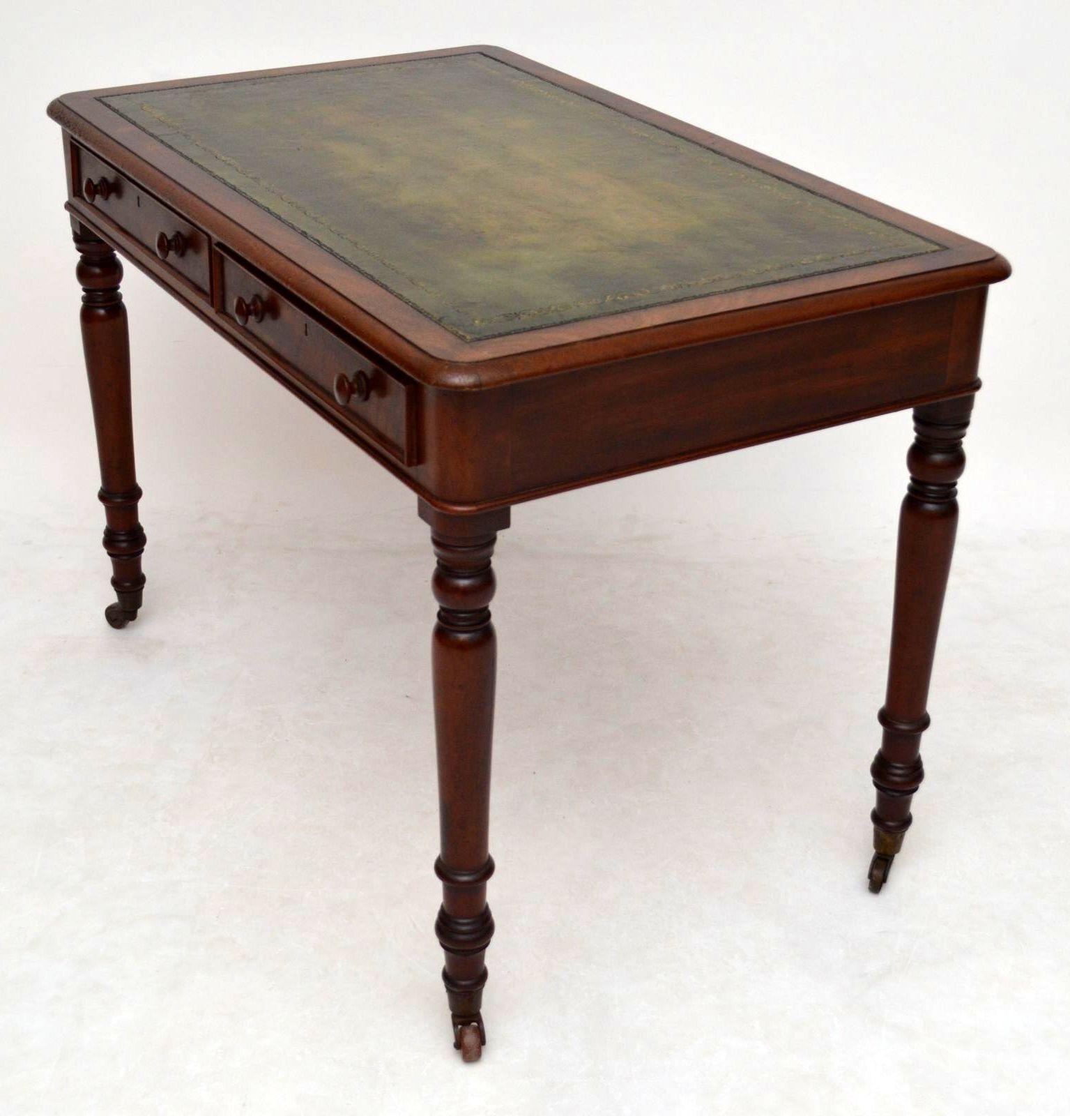 Viktorianischer Mahagoni Schreibtisch antik