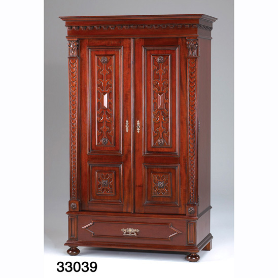 gro er kleiderschrank krug armoire. Black Bedroom Furniture Sets. Home Design Ideas