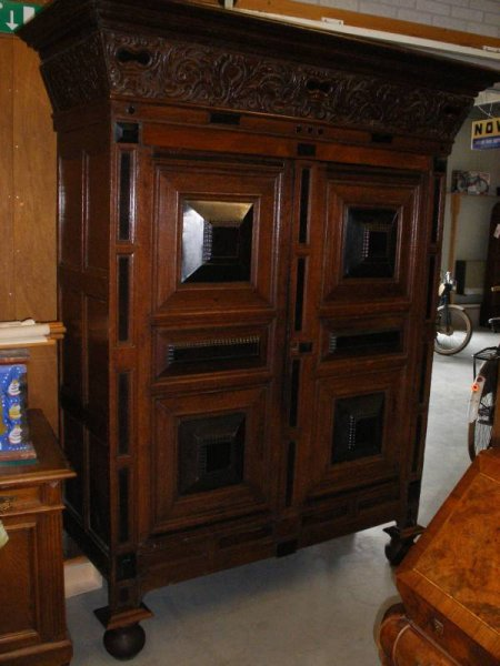 antiker kleiderschrank flurschrank. Black Bedroom Furniture Sets. Home Design Ideas