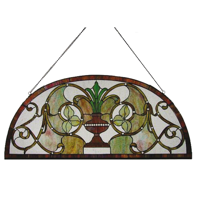 Clayre eef 5ll 5347 halbrunder tiffany fenster vase for Fenster 90x40