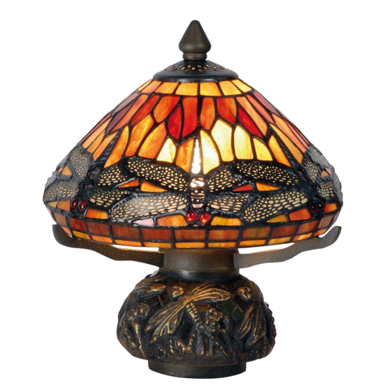37f8025f19fd6a Clayre & Eef 5LL-9295 Tischlampe im Tiffany Stil 22x24cm