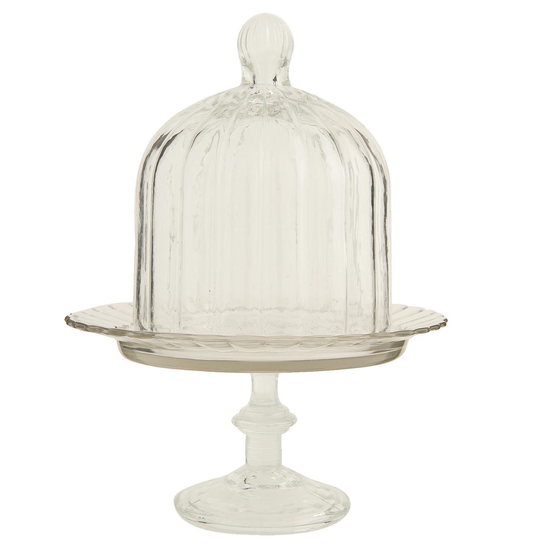 clayre eef 6gl0427 deko glas haube cloche mit fu ca 16 cm. Black Bedroom Furniture Sets. Home Design Ideas