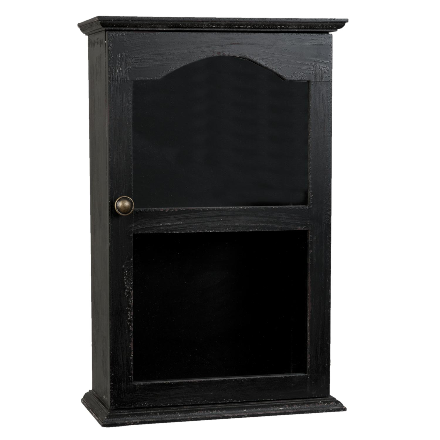 clayre eef 6h0772 schrank vitrine holzschrank schwarz ca 32 x 15 x 50 cm. Black Bedroom Furniture Sets. Home Design Ideas