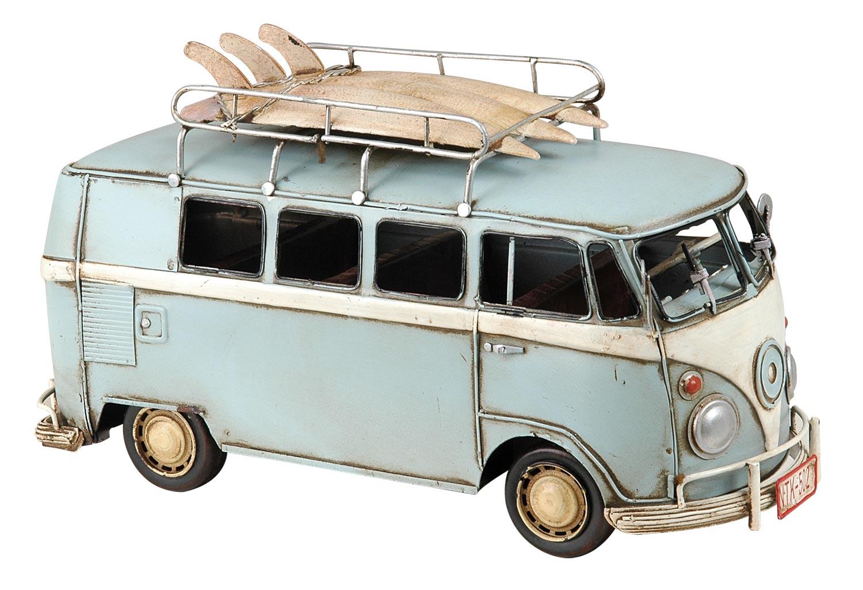 clayre eef 6y0239 modell volkswagen bus t1 bully hell blau aus metall. Black Bedroom Furniture Sets. Home Design Ideas