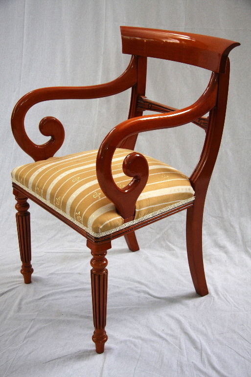armlehnenstuhl green line auch in mahagoni. Black Bedroom Furniture Sets. Home Design Ideas