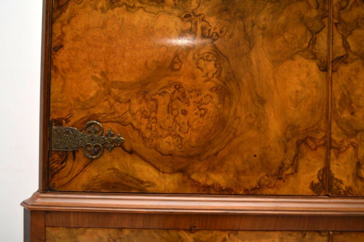 Antique Burr Walnuss Cocktail Getränke Schrank Vorratsschrank