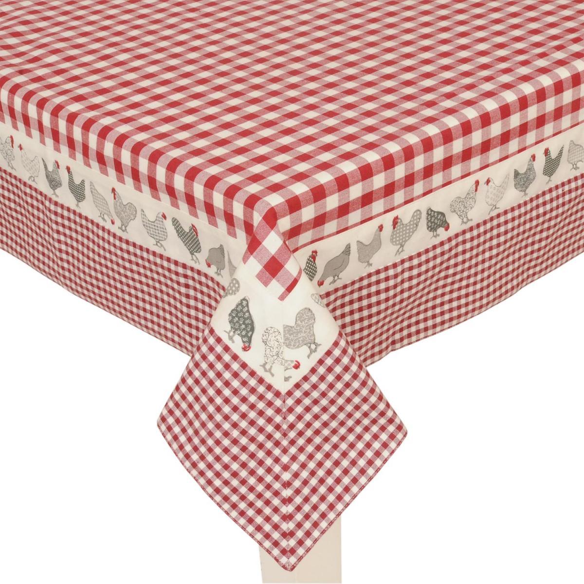 clayre eef cao05r tischdecke rot h hner 150 250cm. Black Bedroom Furniture Sets. Home Design Ideas