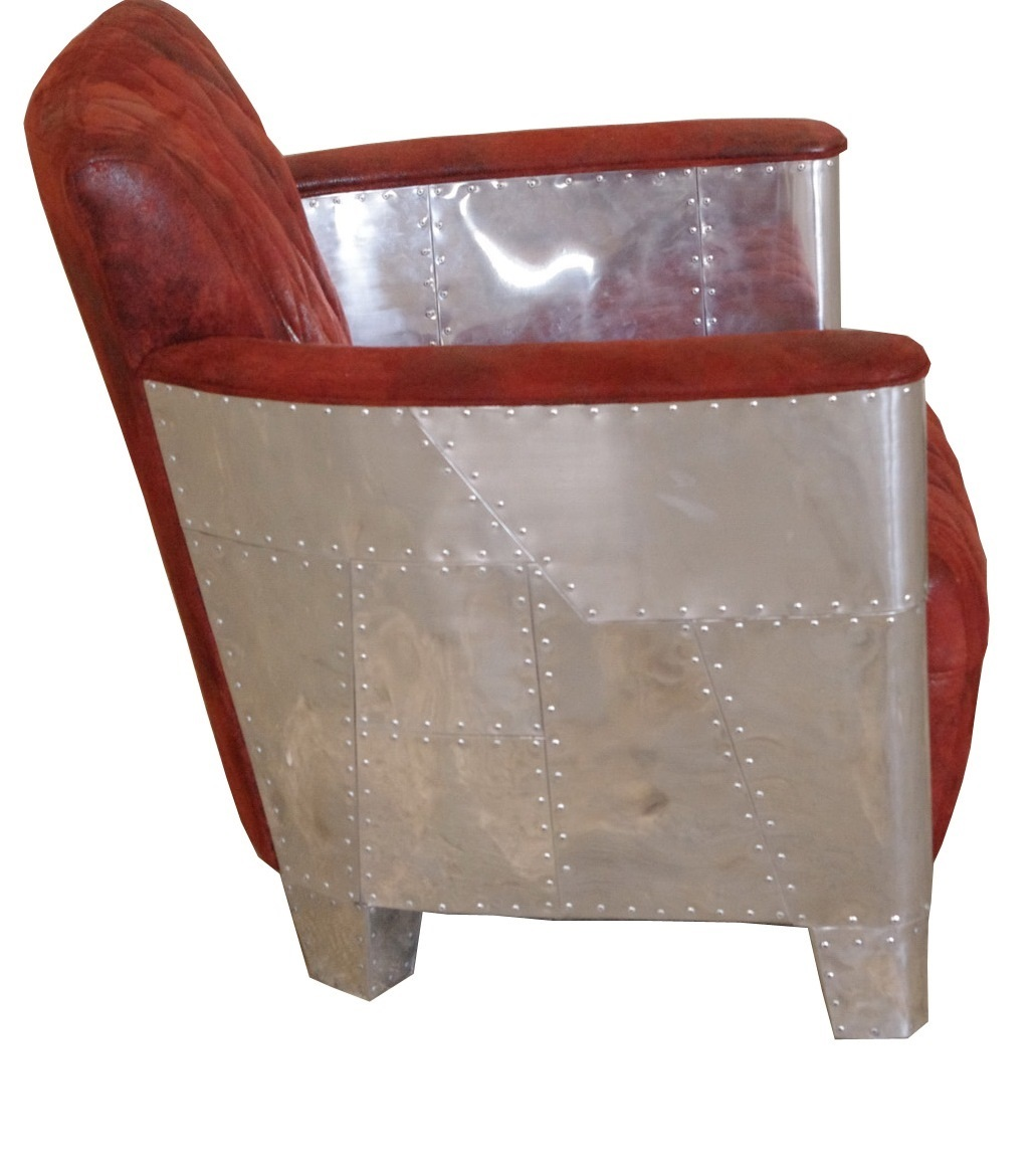 Alu Sessel Original Art Deco Stil Französischer Stil Massivholzmöbel