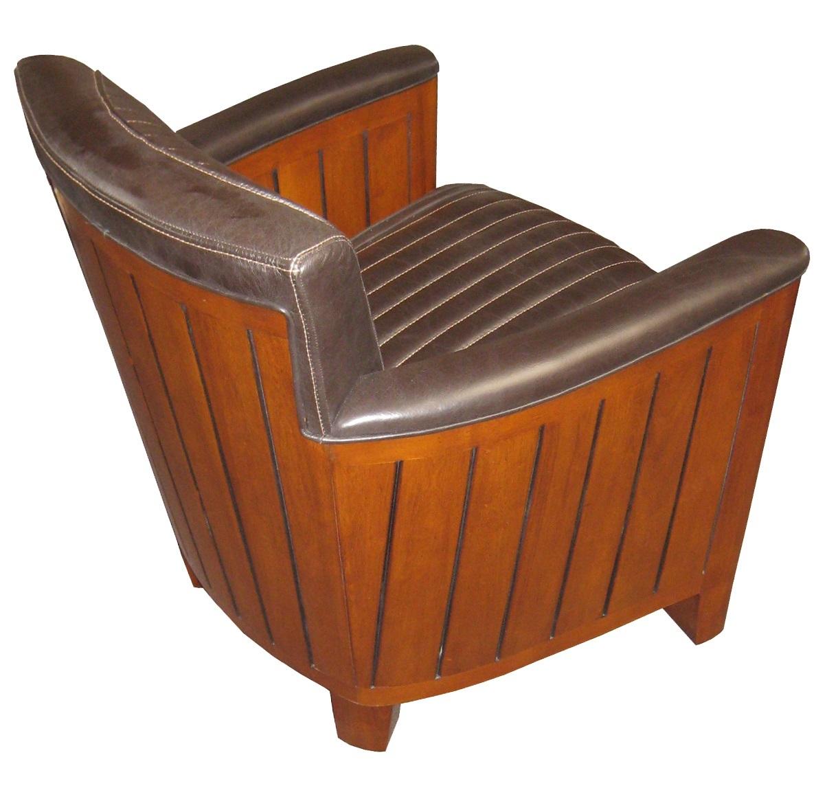 leder clubsessel nautic dunkel braun eckig. Black Bedroom Furniture Sets. Home Design Ideas