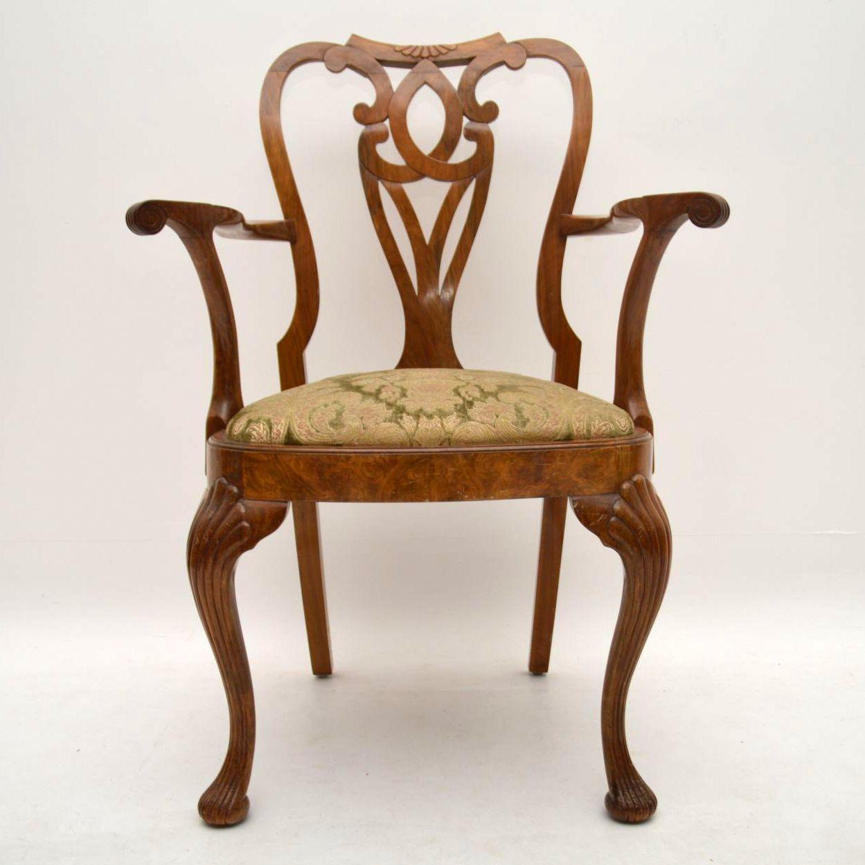 Antiker Walnuss Esstisch Plus 6 Stühle