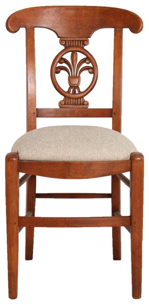 Massivholz Stuhl Eiche Canvas Stoff Eichenholz Küchenstuhl