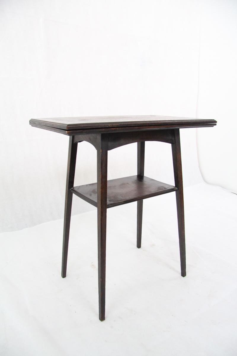 Table card bridge tisch beistelltisch eiche original for Kleiner tisch eiche