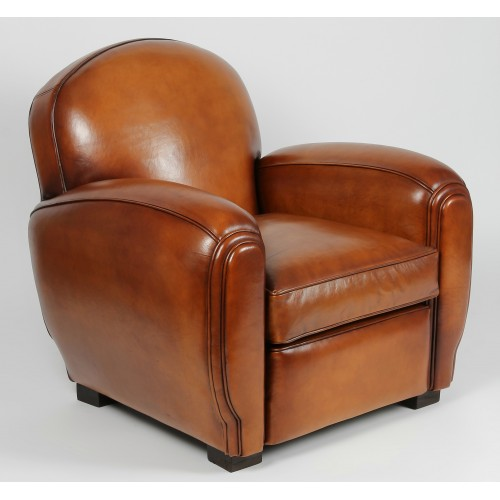 clubsessel san diego original art deco stil ledersessel. Black Bedroom Furniture Sets. Home Design Ideas