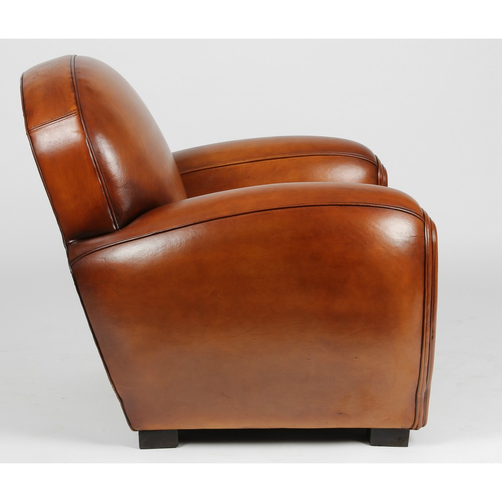 art deco ledersessel clubsessel san diego in rustique. Black Bedroom Furniture Sets. Home Design Ideas