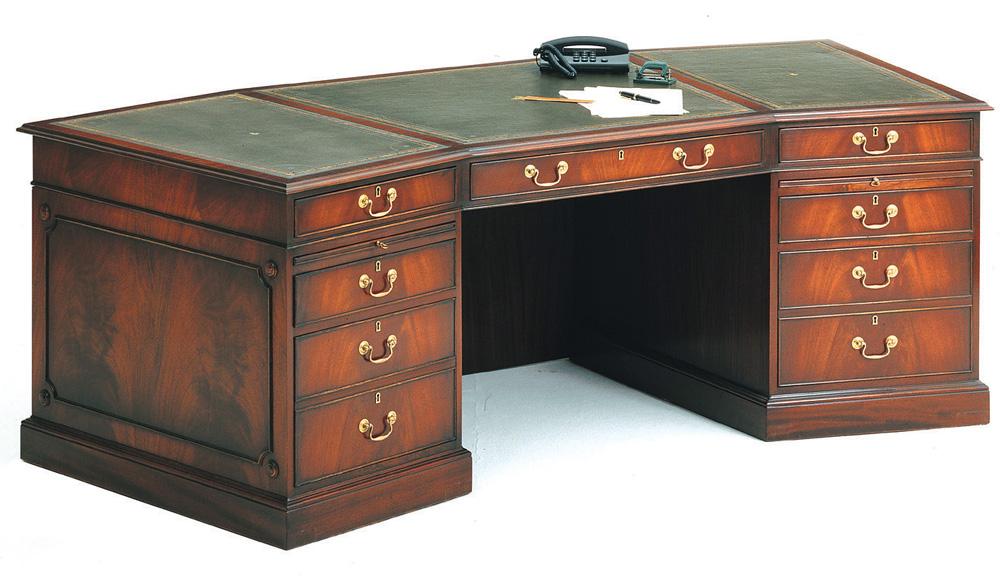 bevan funnell gro es pedestal schreibtisch in mahagoni. Black Bedroom Furniture Sets. Home Design Ideas