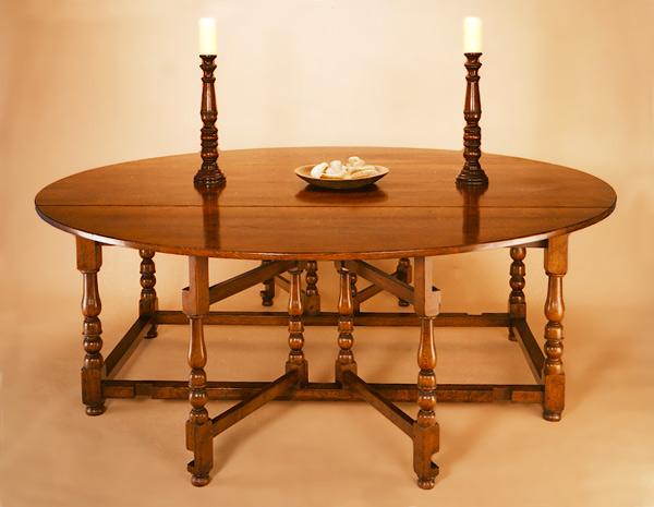 Gateleg Tisch.Joined Double Gateleg Tisch