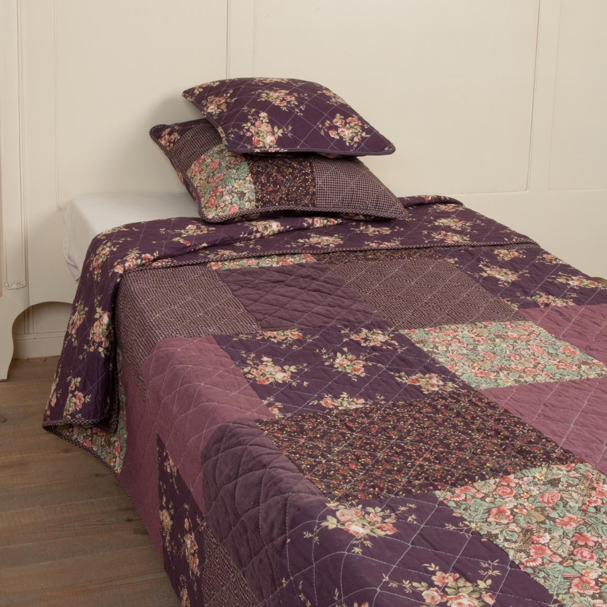 clayre eef tagesdecke purple flower 230x260. Black Bedroom Furniture Sets. Home Design Ideas