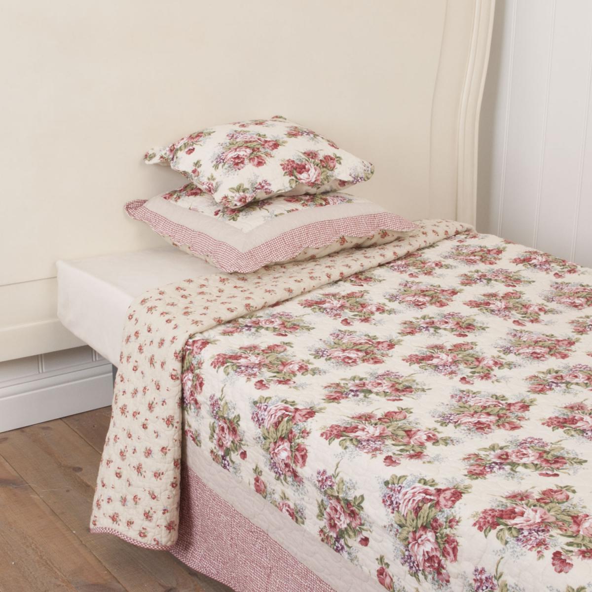 clayre eef tagesdecke blumenstrau 260 x 260. Black Bedroom Furniture Sets. Home Design Ideas