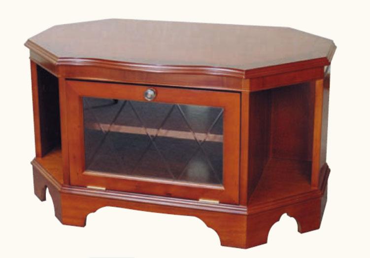 kleiner eck tv schrank mit glasfront in mahagoni ebenfalls in eibe erh ltlich. Black Bedroom Furniture Sets. Home Design Ideas
