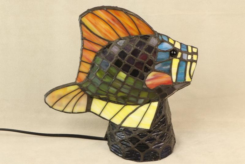 Tiffany Tierlampe Fisch Morris Antik