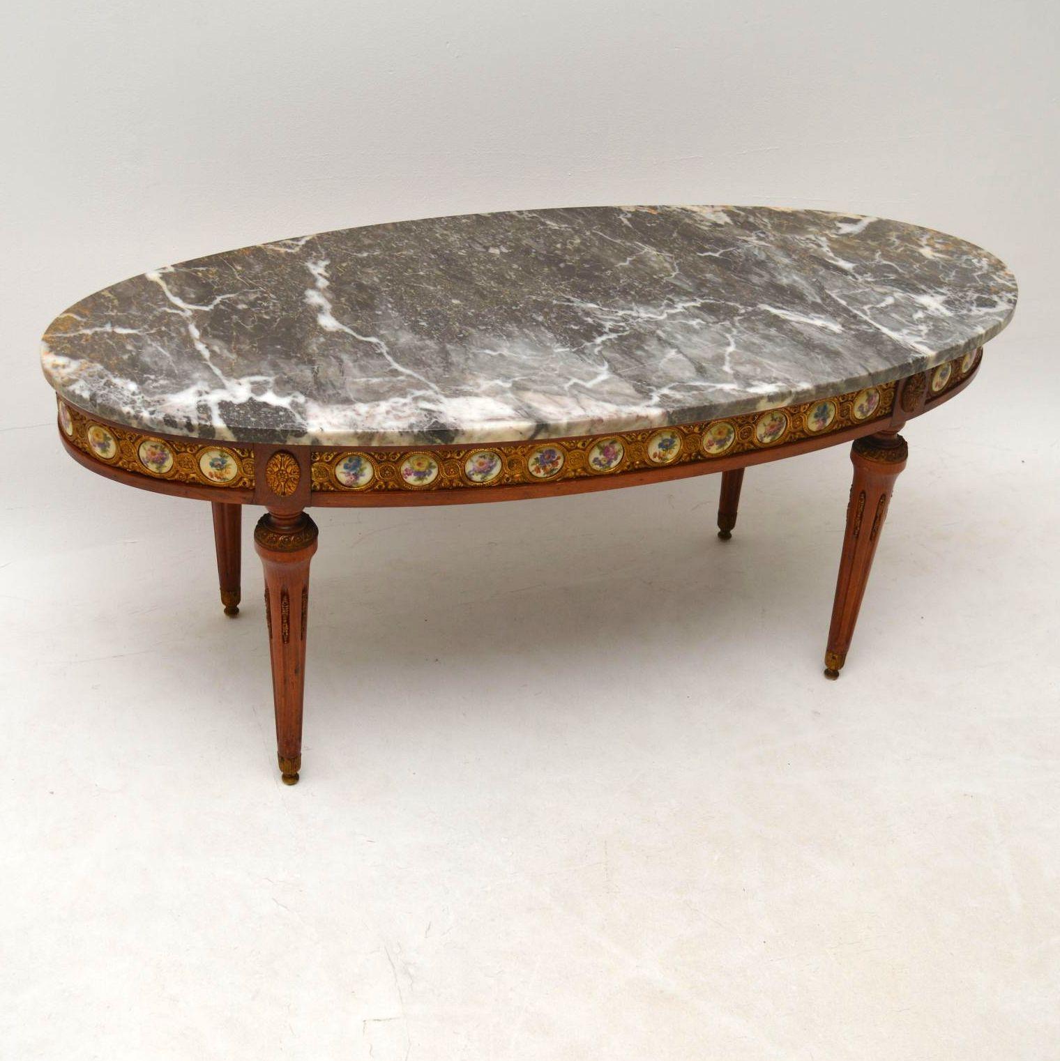 antiker franz sischer marmor couchtisch. Black Bedroom Furniture Sets. Home Design Ideas