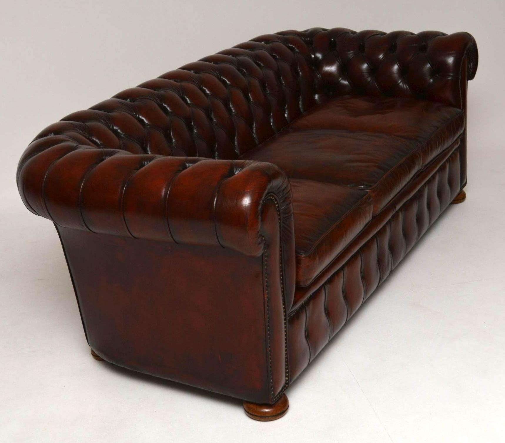 antikes leder chesterfield sofa. Black Bedroom Furniture Sets. Home Design Ideas