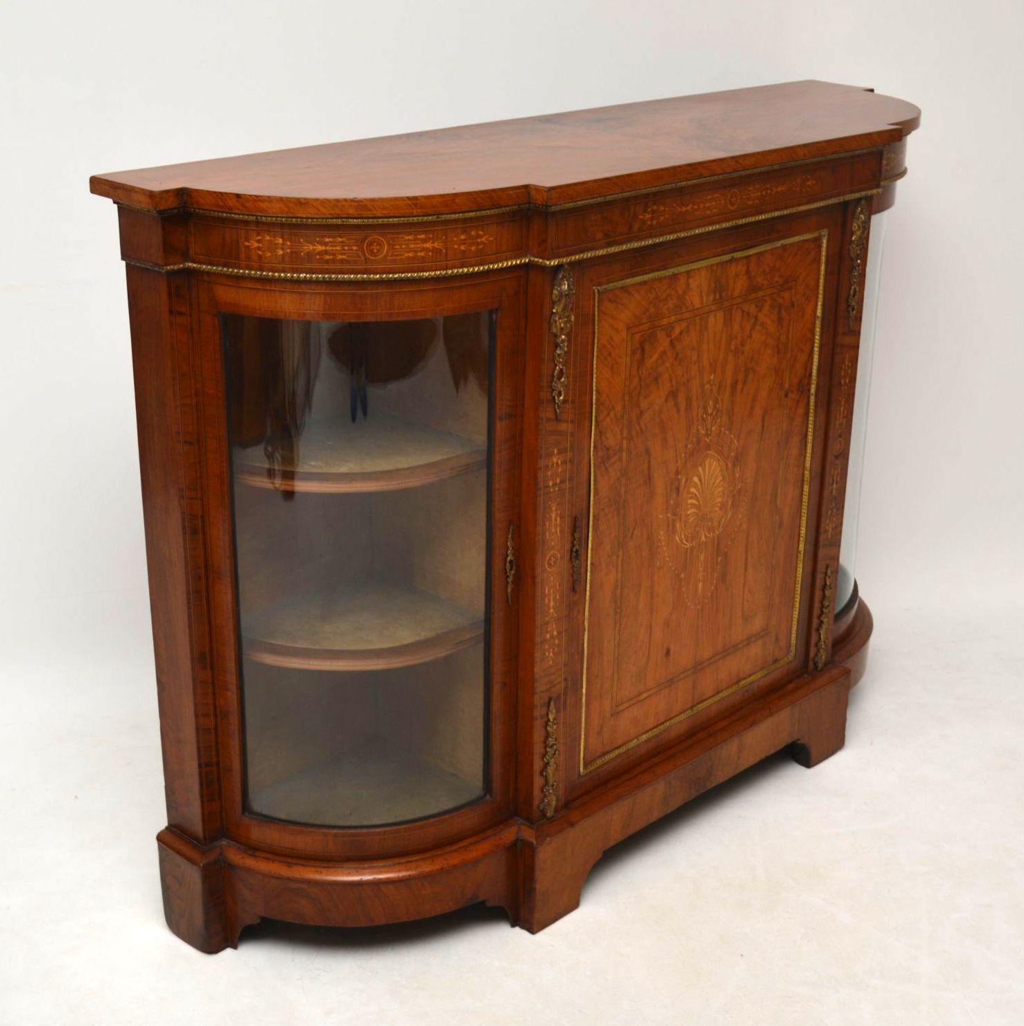 antikes viktorianisches walnuss credenza sideboard. Black Bedroom Furniture Sets. Home Design Ideas