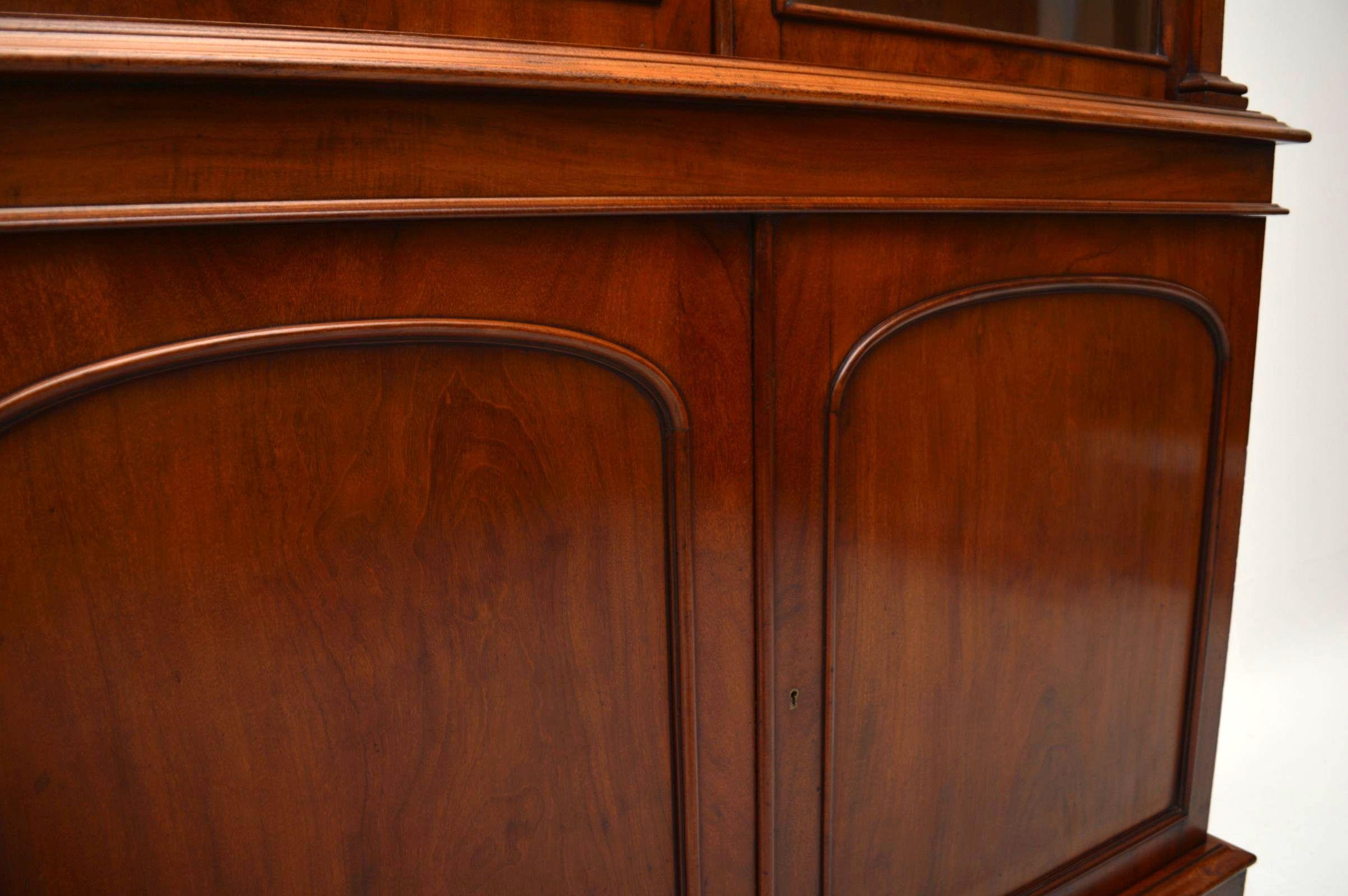 gro es antikes viktorianisches mahagoni b cherregal. Black Bedroom Furniture Sets. Home Design Ideas
