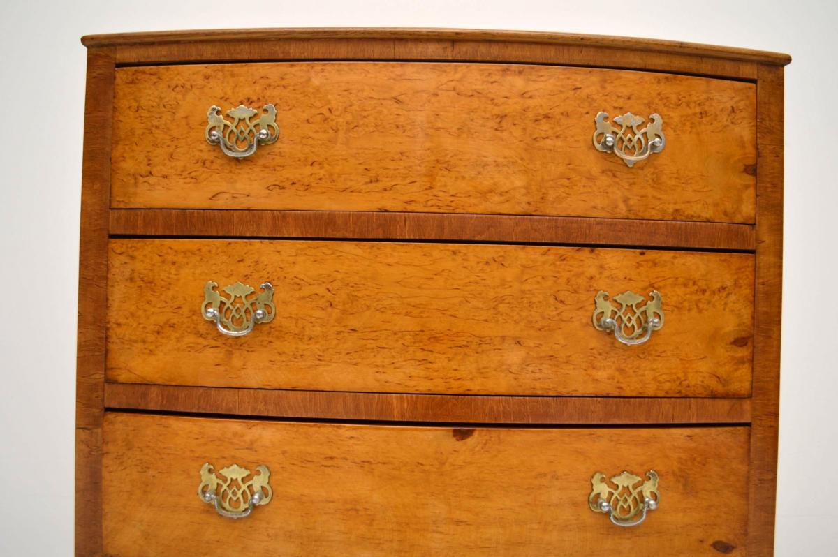 Kleine Antike Ahorn Kommode mit vier Schublade Nachttisch ...