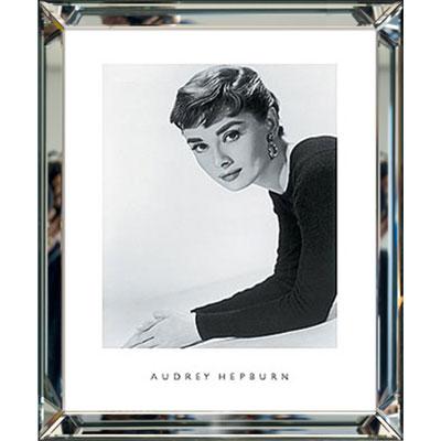 Spiegel Mit Bilderrahmen eingerahmtes schwarz weiß bild hepburn foto schwarz weiß im