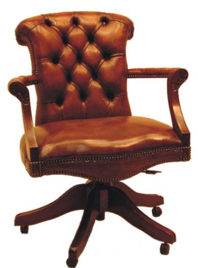 Viscount chesterfield drehstuhl b rostuhl echtleder - Chesterfield burostuhl ...