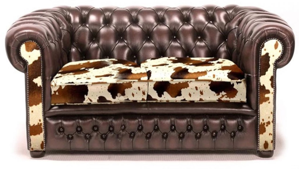 Texas Classic Original Englisches Chesterfield Sofa 2 Sitzer