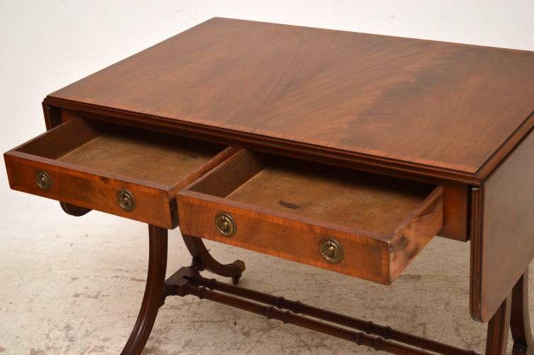 edwardian sofa tisch mit intarsien. Black Bedroom Furniture Sets. Home Design Ideas