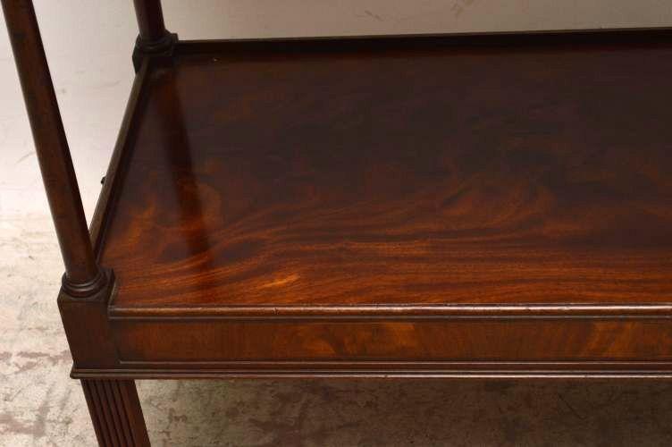 Antiker beistelltisch mit schublade  Antiker Beistelltisch Two Tier Mahogany Side Table