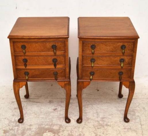 Antikes Paar Beistelltische kleine Tische Schlafzimmer Tische ...
