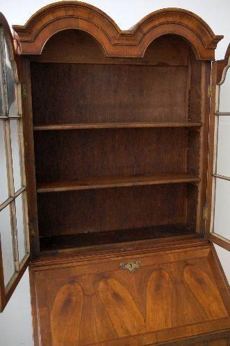antikes b cherregal nussbaum. Black Bedroom Furniture Sets. Home Design Ideas