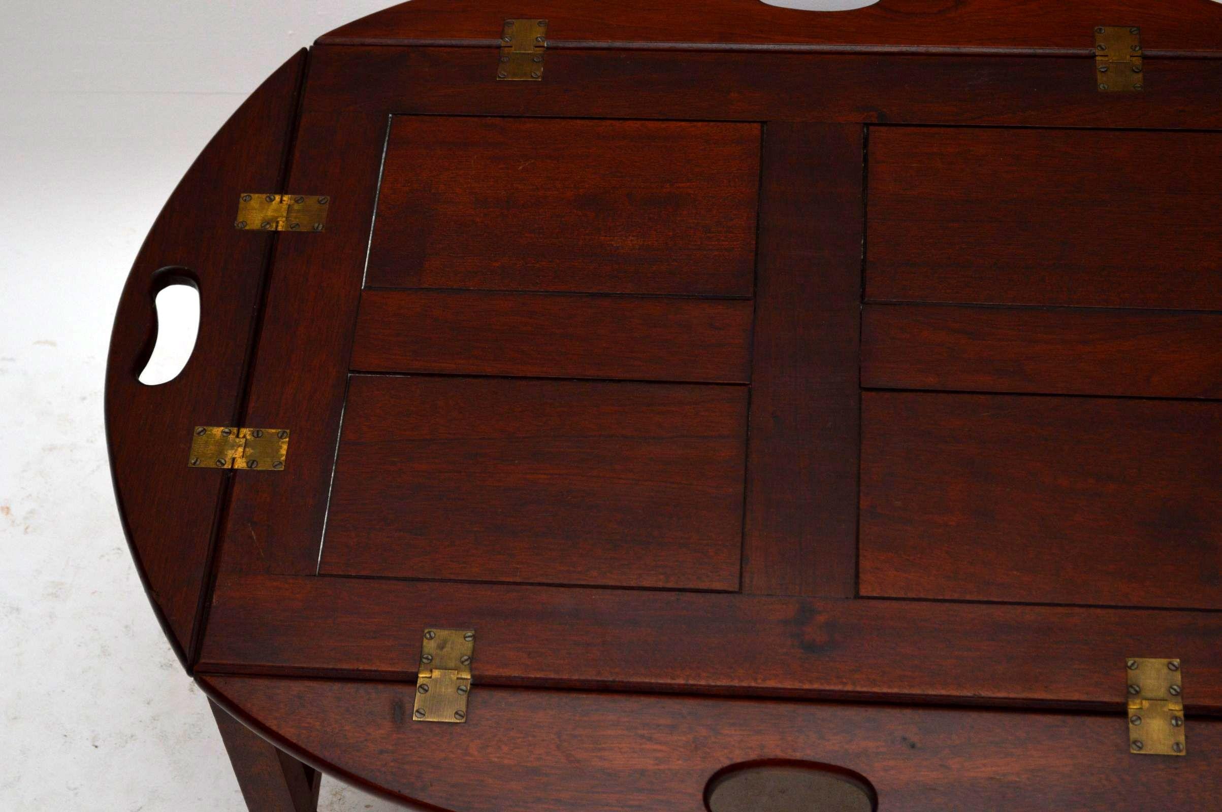 Butlers Tray antik aus Mahagoni