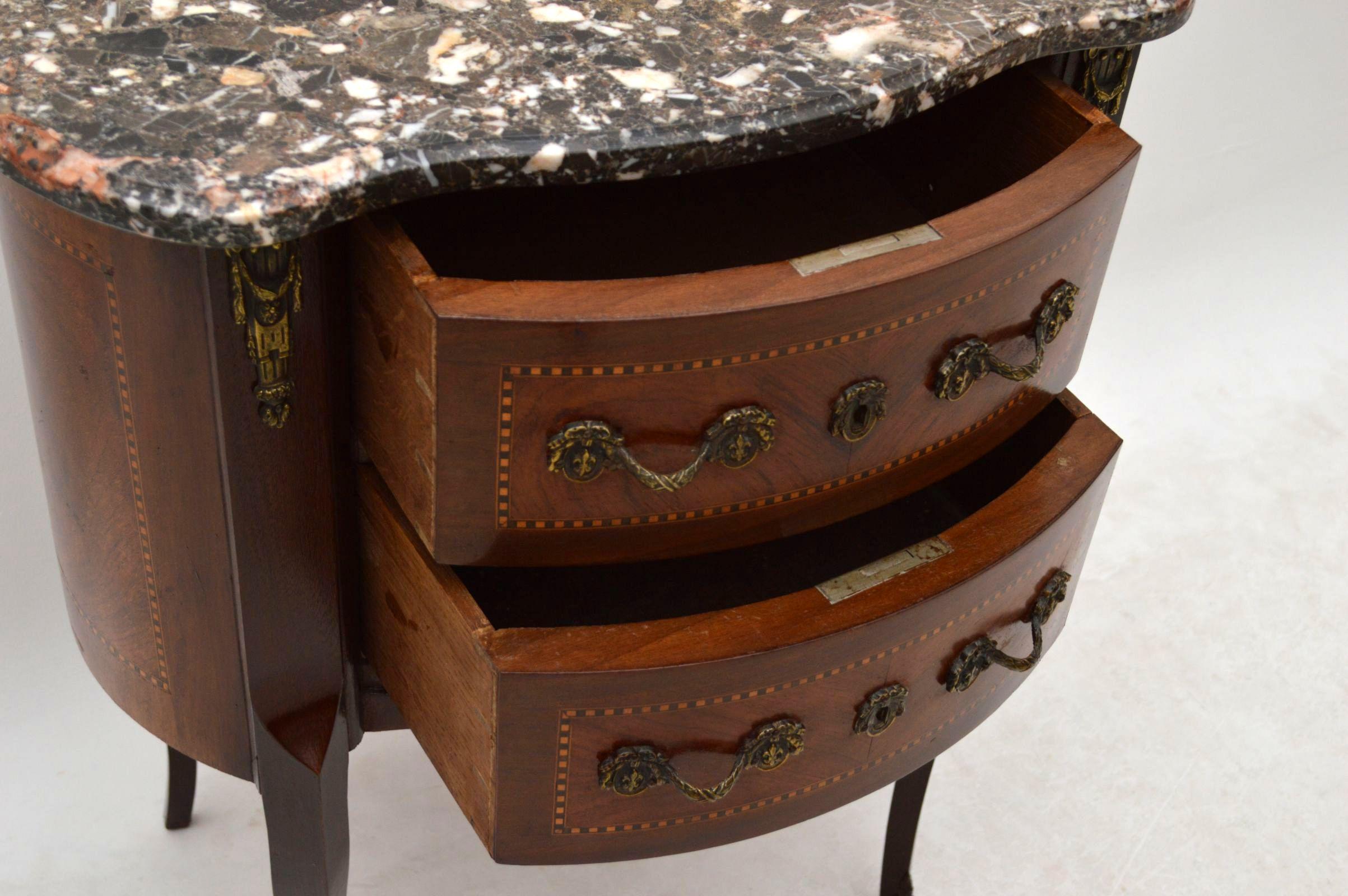 Antiker coffeetable sofatisch beistelltisch mit for Beistelltisch marmorplatte