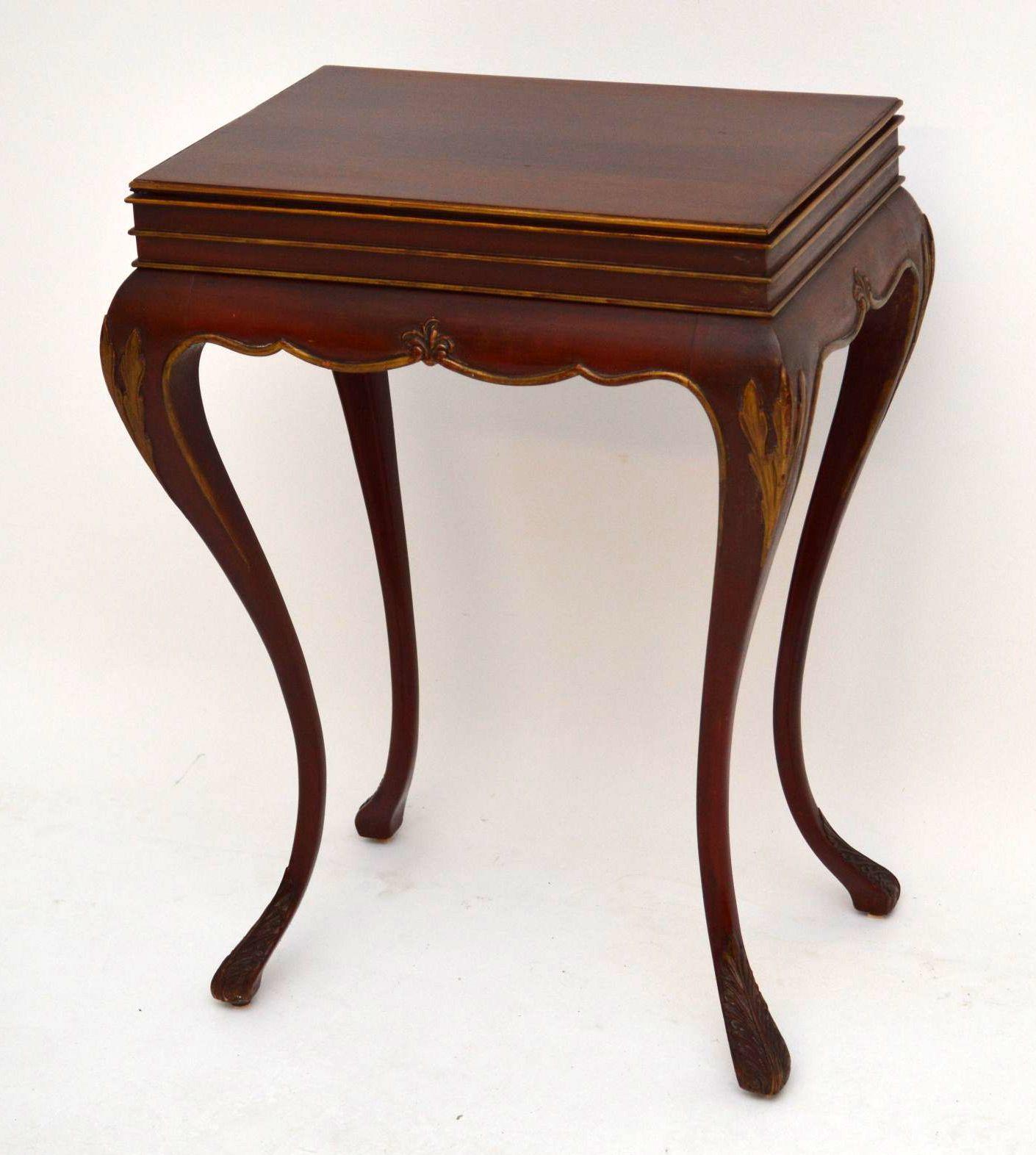 mahagonie sidetable beistelltisch antik. Black Bedroom Furniture Sets. Home Design Ideas