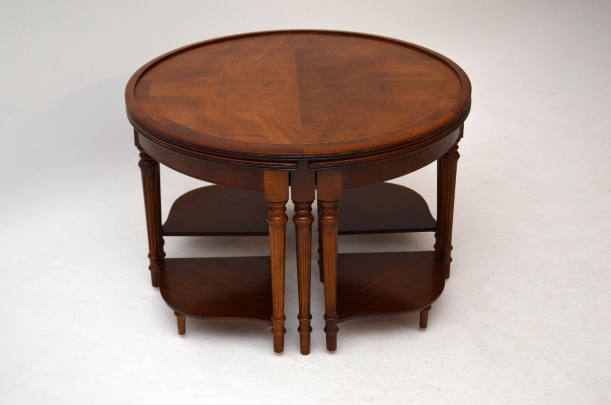 antiker georgian rund couchtisch nest. Black Bedroom Furniture Sets. Home Design Ideas