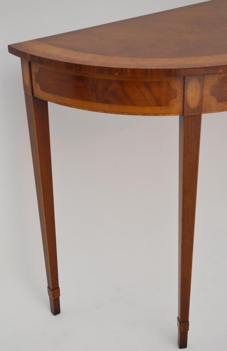 antiker mahagoni satinholz console beistelltisch. Black Bedroom Furniture Sets. Home Design Ideas