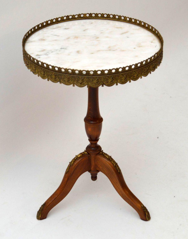 Antik franz sischer marmor wein tisch for Sofatisch marmor