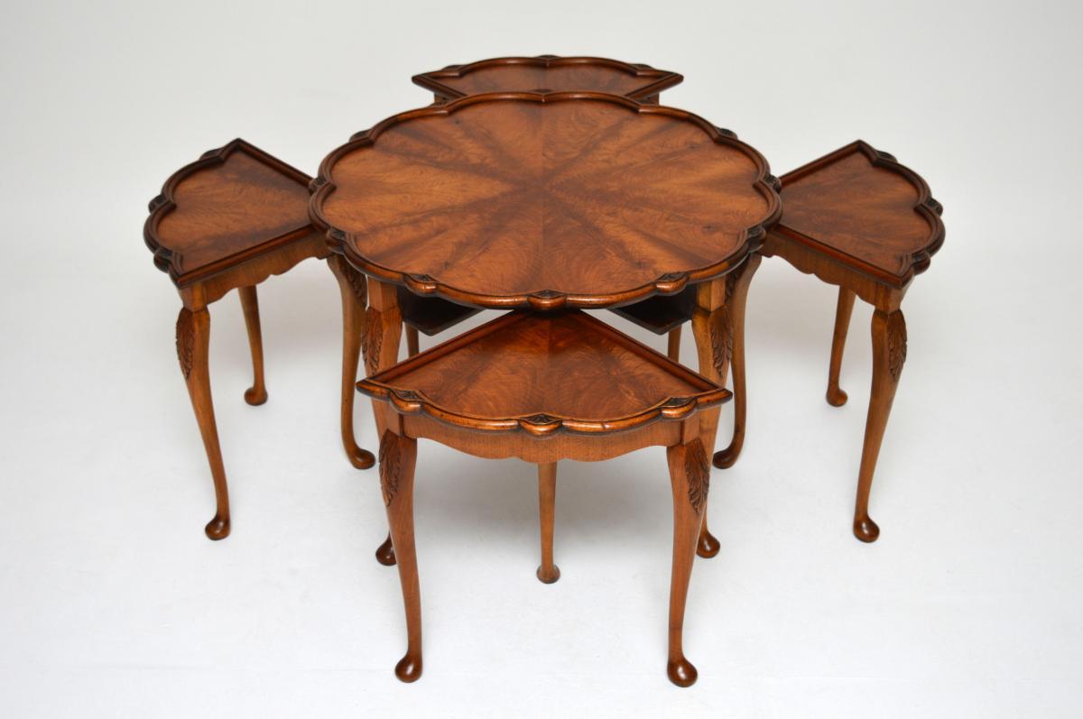 rundes nest of tables beistelltische antik. Black Bedroom Furniture Sets. Home Design Ideas