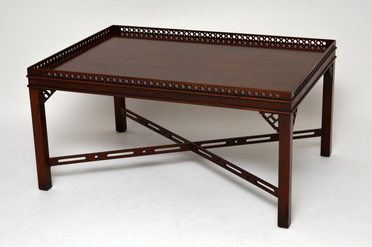 antiker chinesischer chippendale stil couchtisch. Black Bedroom Furniture Sets. Home Design Ideas