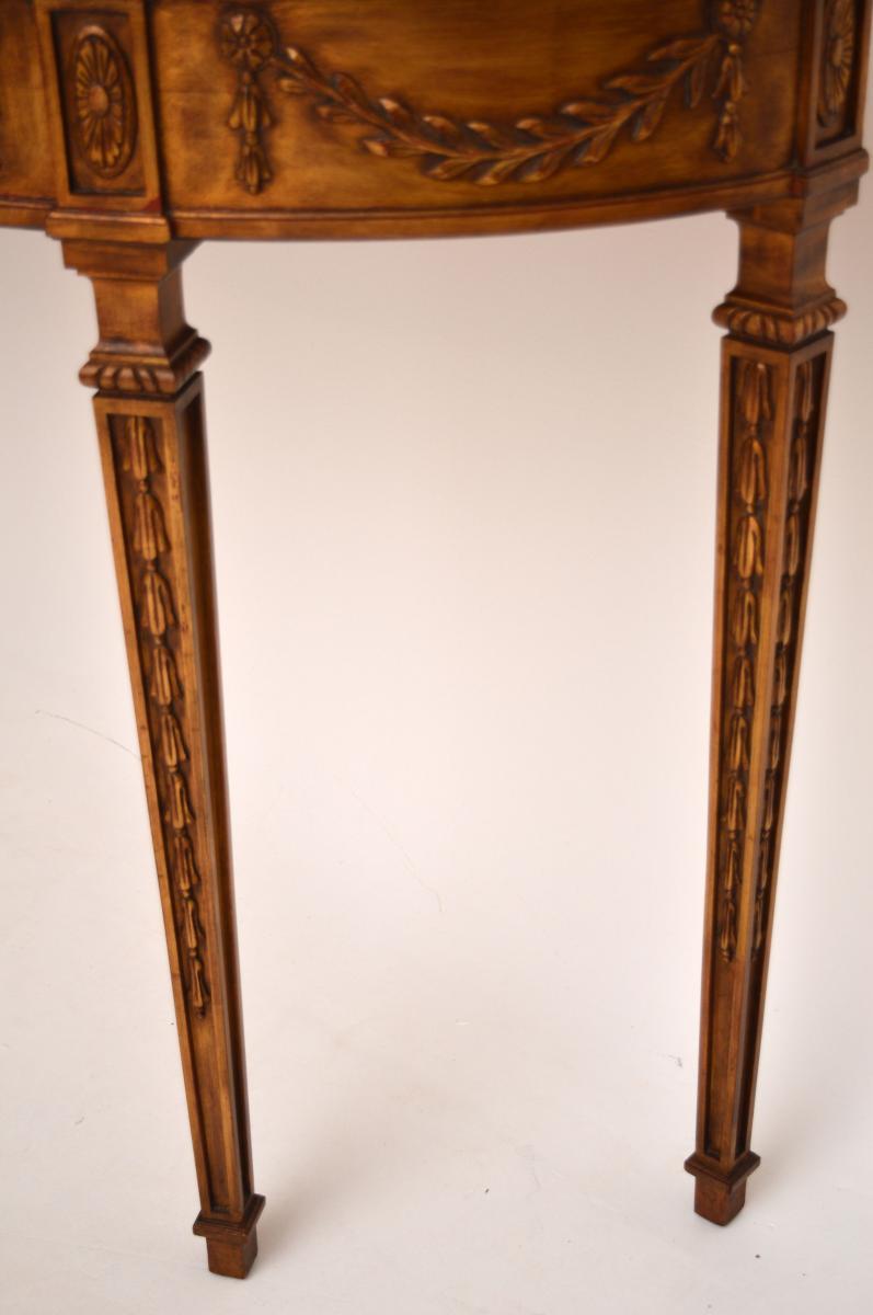 antiker vergoldeter marmor konsolentisch. Black Bedroom Furniture Sets. Home Design Ideas