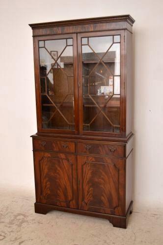 Bücherregal Mit Glastür bücherregal antik mit glastüren