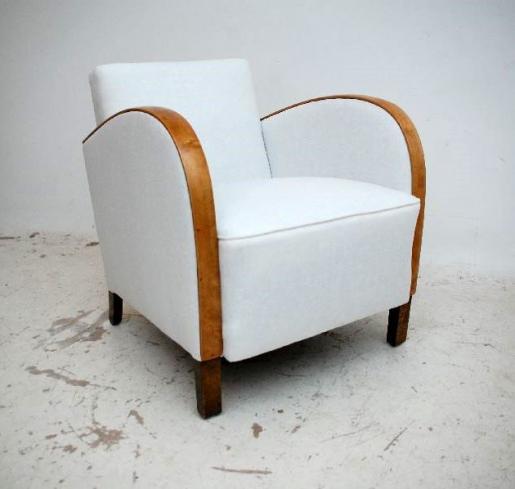 schwedische art deco sessel 2x. Black Bedroom Furniture Sets. Home Design Ideas