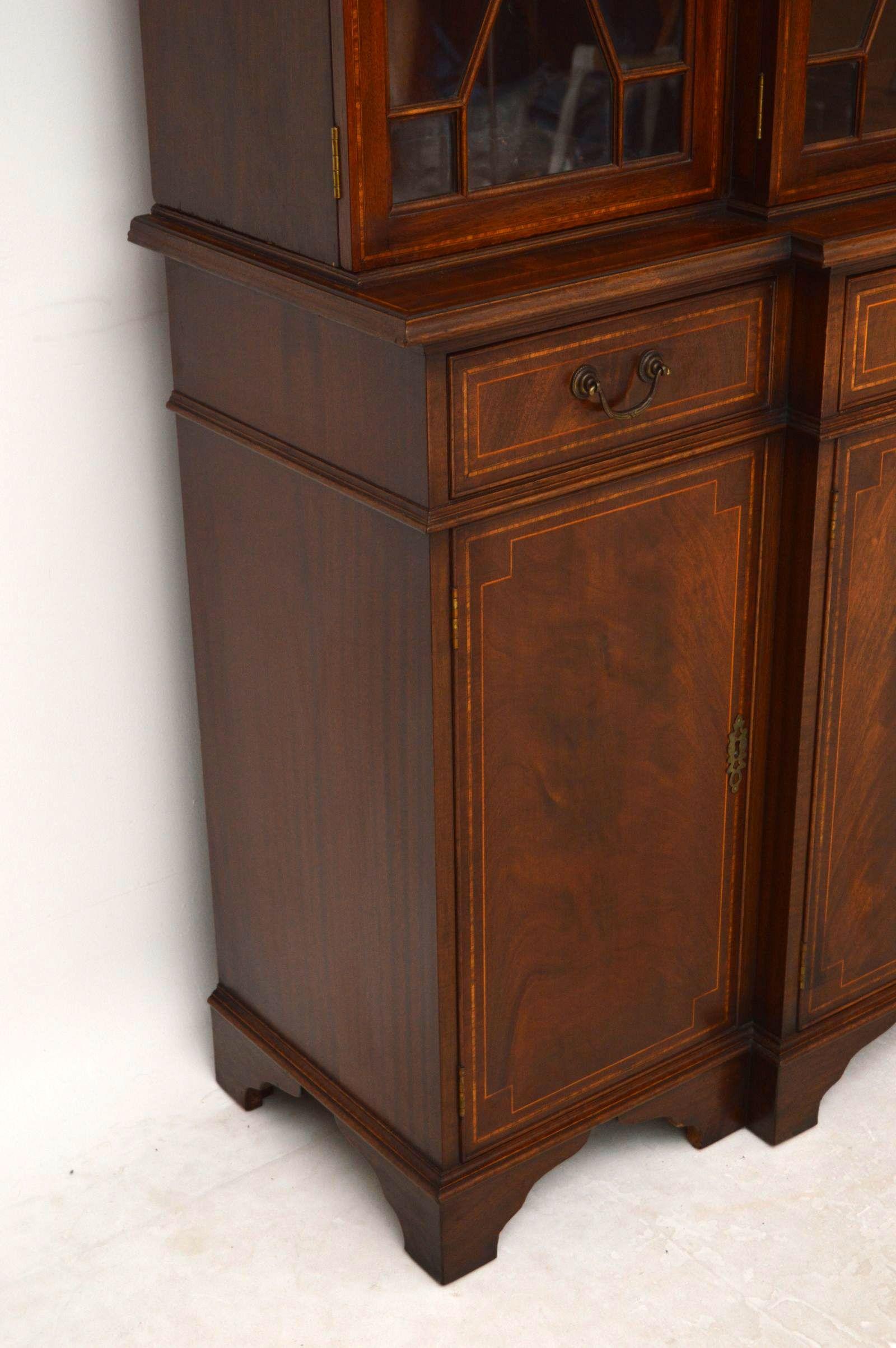 tolles antikes breackfront mahagoni. Black Bedroom Furniture Sets. Home Design Ideas