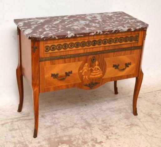 schwedische kommode mit marmor antik. Black Bedroom Furniture Sets. Home Design Ideas