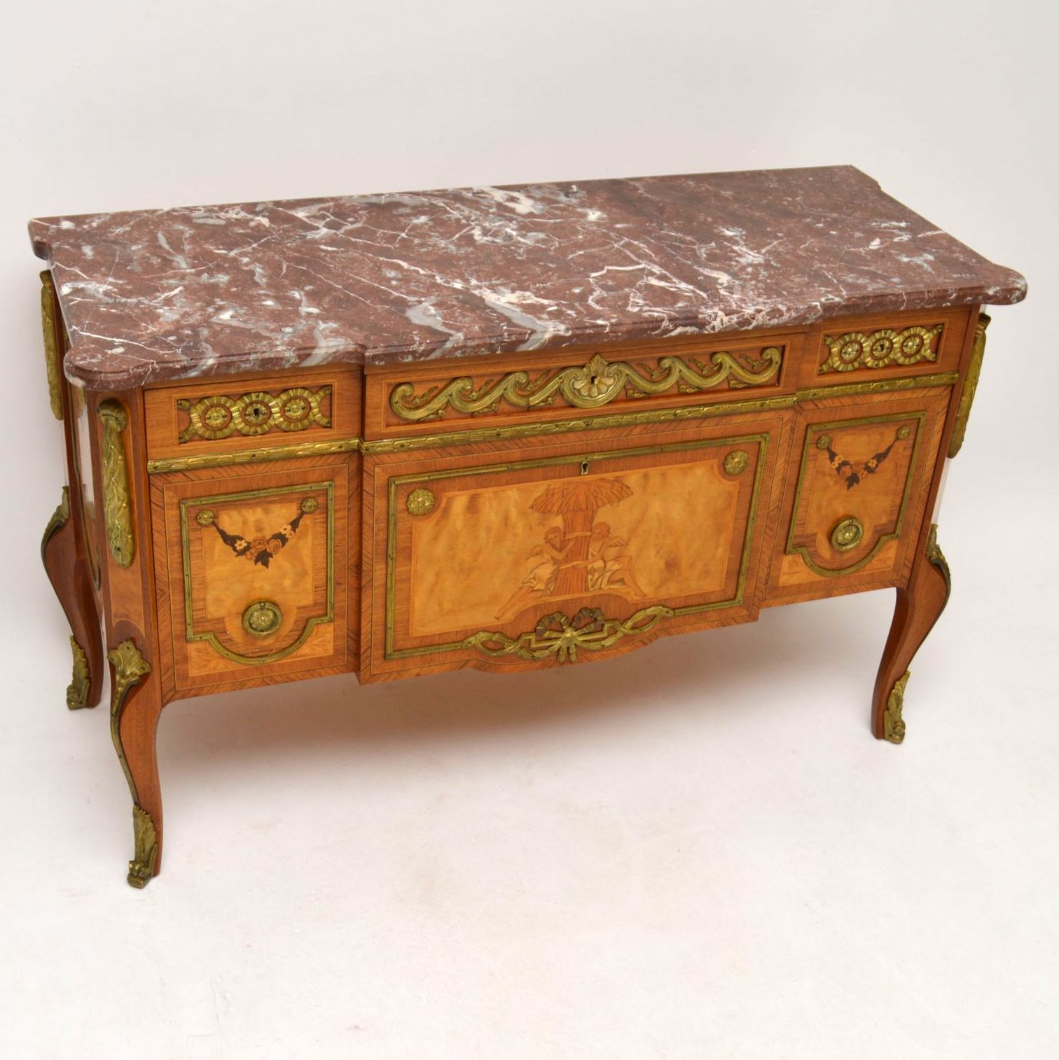 antike schwedische marmor kommode. Black Bedroom Furniture Sets. Home Design Ideas